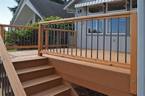 deck images composite decking material installation near yelm ajb landscaping fence