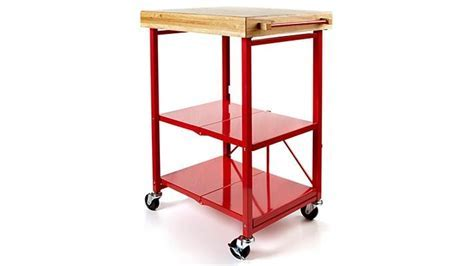 Origami Folding Kitchen Island Cart with Casters   YouTube