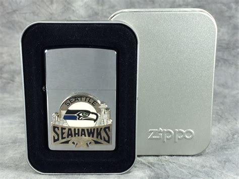 seattle seahawks brushed chrome lighter zippo