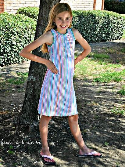 Dress Tween Summer Tank Surprise Box Pattern