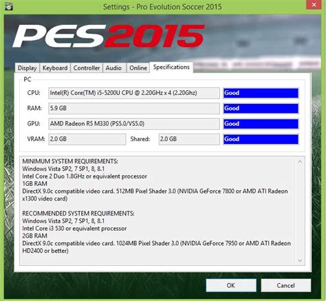 System Requirements Pes  Problem With Vram Arqade
