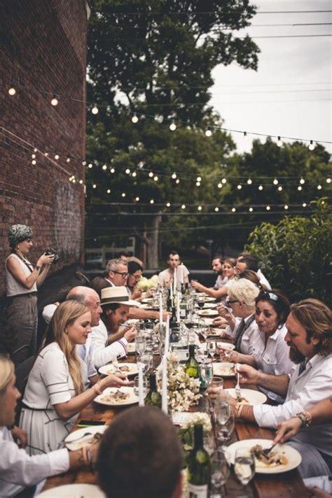 outdoor dinner party  design studio