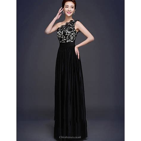 Formal Evening Dress - Black Plus Sizes A-line One ...