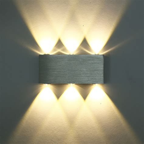 modern 6w up down sconces lights wall light square warm