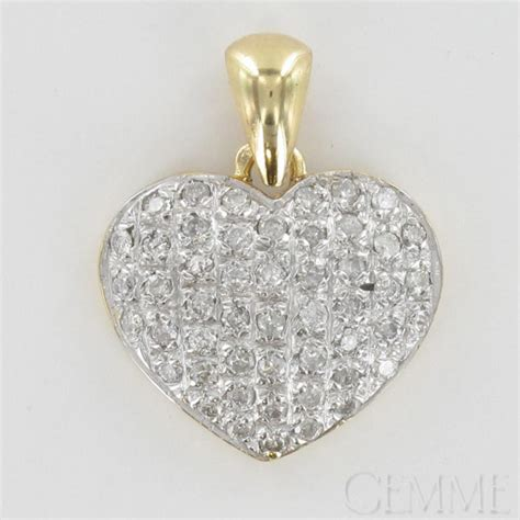 pendentif coeur  ors diamant taille moderne