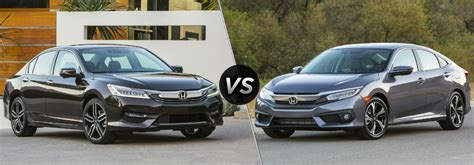 2018 Honda Accord Sedan Vs 2018 Honda Civic Sedan