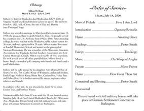 funeral programs free free printable funeral programs click on a