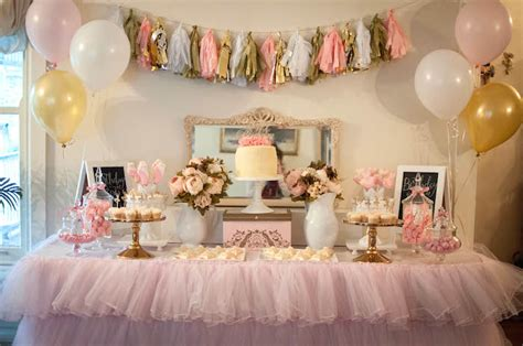 pink white and gold birthday decorations kara s ideas pink and gold ballerina birthday
