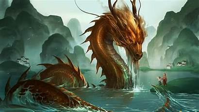 Dragon Chinese Background Japanese Ryujin Dragons Wallpapers