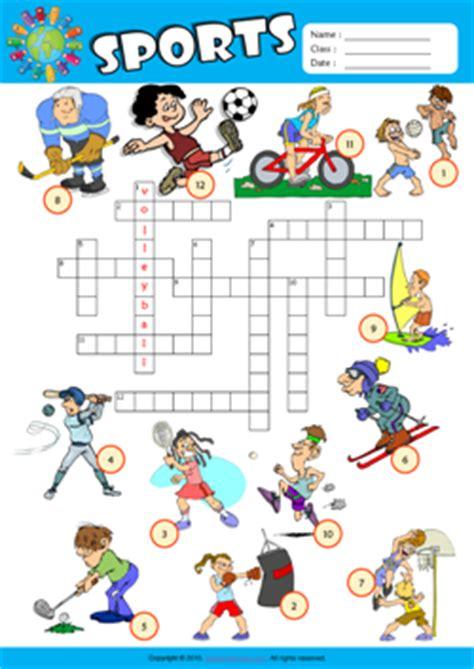 sports esl printable worksheets  kids