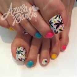 Tropical toes nail art gallery in toe designs