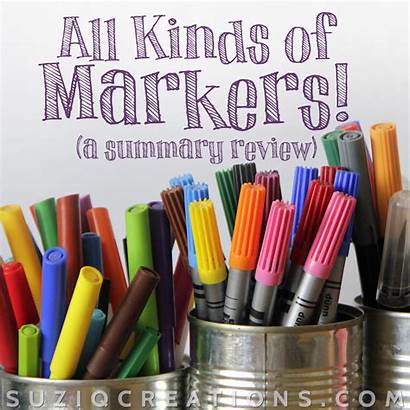 Types Markers Coloring Adult Books Marker Different