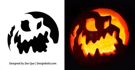scary halloween pumpkin carving stencils printable