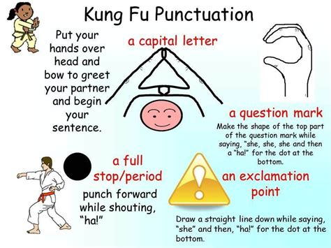 kung fu punctuation    unsure whenwhere