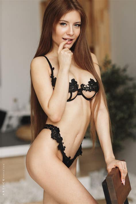 Stepan Kvardakov Women Model Finger On Lips Belly Looking At Viewer Long Hair Women