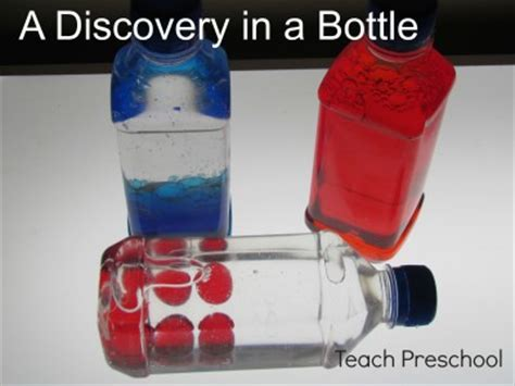 the discovery of color in a bottle teach preschool 708 | Discovery Bottles 400x300
