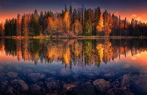 morning reflection haemeenlinna cool landscapes