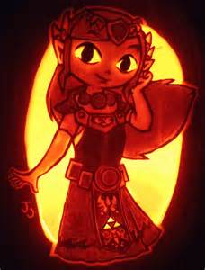 Nintendo Pumpkin Carving Stencils by These Zelda Jack O Lanterns Are Literally Glowing With