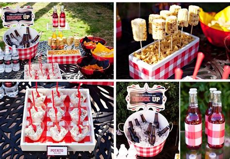 bbq theme bbq theme party picnic grill summer pinterest hot dog bar potato salad and party ideas