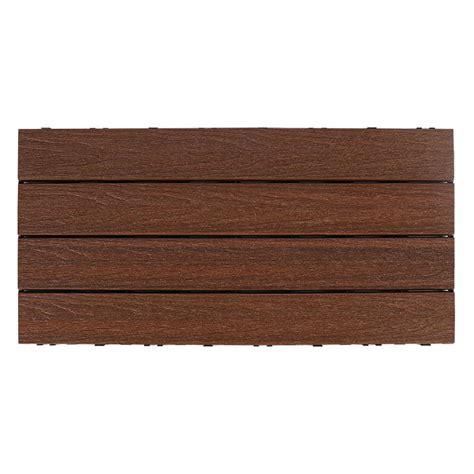 Ipe Deck Tiles Home Depot by Newtechwood Ultrashield Naturale 1 Ft X 2 Ft Deck