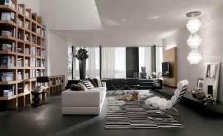 home interior shelves bookshelf as room focus in interior design