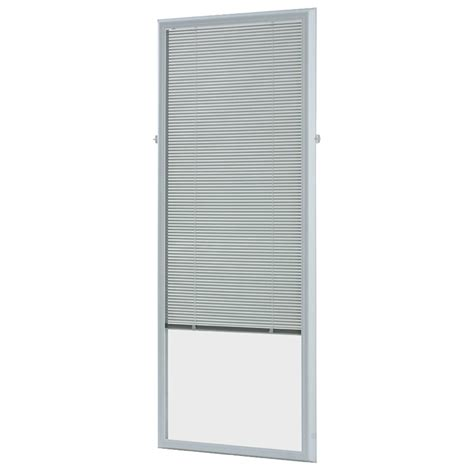 glass l shades lowes odl 5 8 in aluminum light filtering cordless enclosed mini