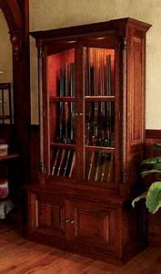 Wood Gun Cabinets / Cherrywood Security Gun Cabinet -- Orvis