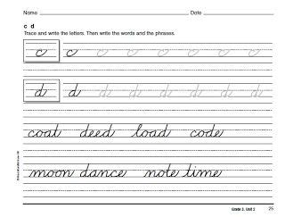 cursive handwriting book  images teaching