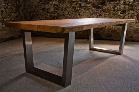 oak and steel dining table large oak dining table selection abacus tables