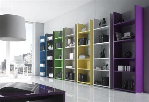 etagere bibliotheque laque design lorelis sept couleurs