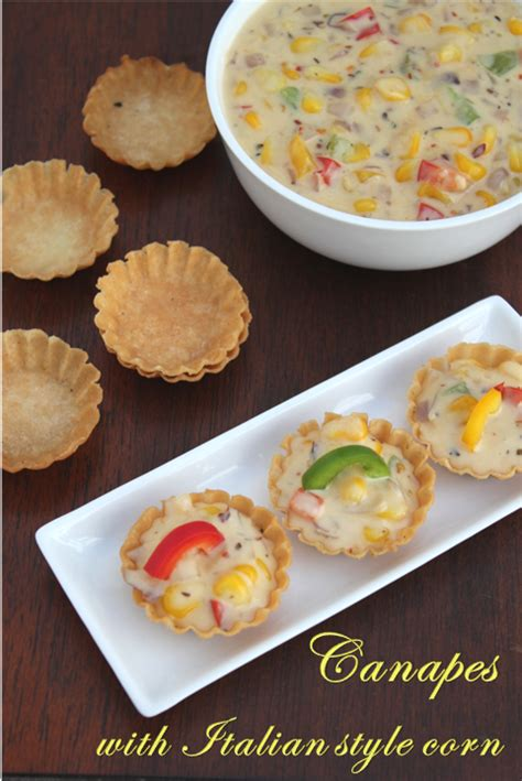 canapes filling recipe jaya 39 s recipes canapes with style corn