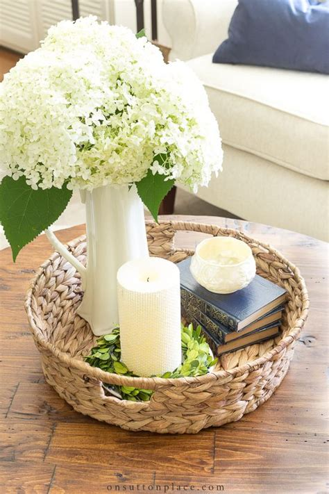 We build outdoor coffee tables to last; Simple Round Coffee Table Styling Ideas   Coffee table styling, Decorating coffee tables, Round ...