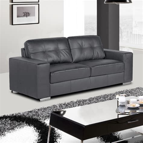 grey and black leather sofa bella slate grey leather sofa collection with tufted seats