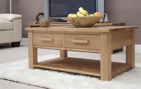 Eton Solid Oak Living Room Lounge Furniture Storage Coffee