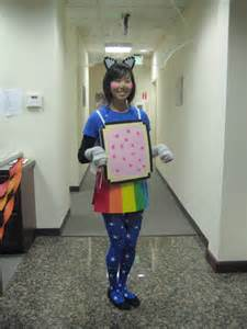 nyan cat costume falling into autumn with id id tech