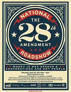 28th Amendment- We will get this issue on the CA statewide ...