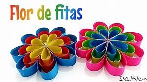 Flor Com Tiras De Papel Colorset
