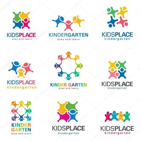 kindergarten and logo vector set stock vector 169 kar 113 | depositphotos 125840446 stock illustration kindergarten and kids logo vector