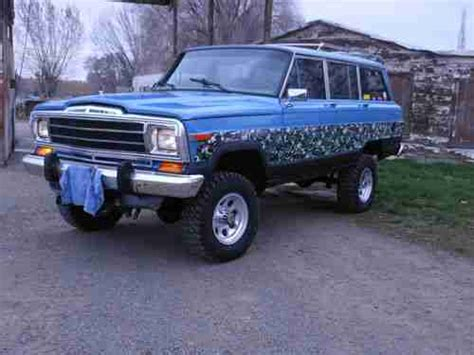 wagoneer jeep lifted purchase used amc jeep grand wagoneer limited 4x4 lifted