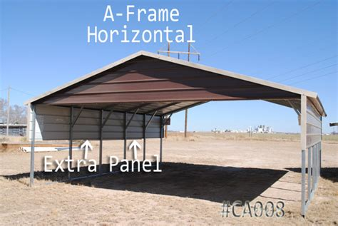coast to coast carports gable a frame horizontal carports