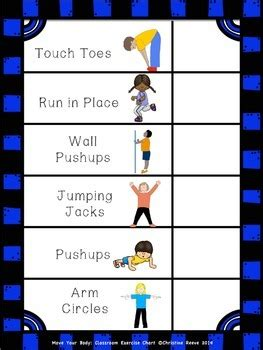 move  body classroom exercise chart autism special