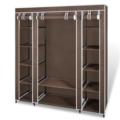 armoire penderie la boutique en ligne armoire penderie tissu 45 x 150 x176 cm brun vidaxl fr