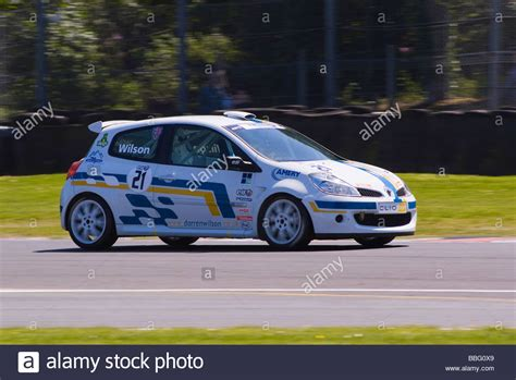 Renault Racing by Renault Clio Race Car In Renault Clio Cup At Oulton