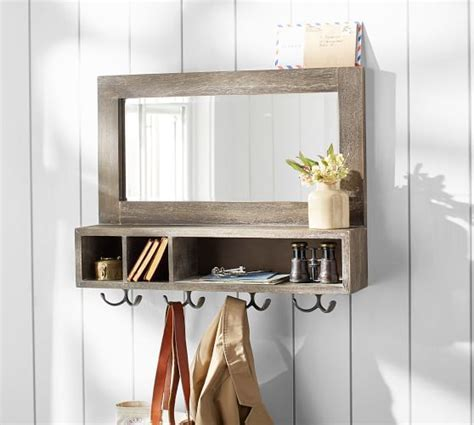 Maxwell Mirror with Hooks   Pottery Barn