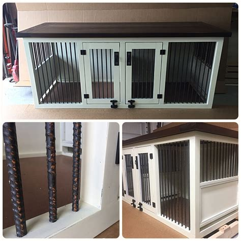 original double dog kennel dog stuff diy dog crate