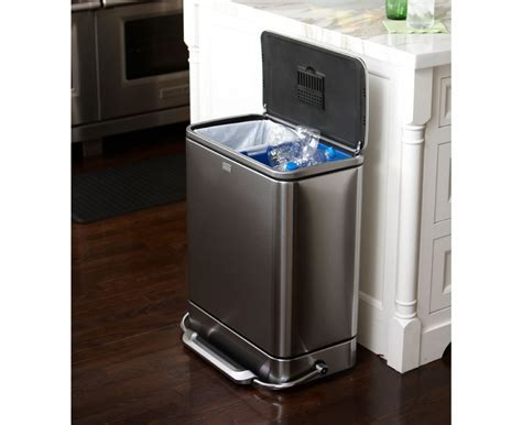 Beautiful Kitchen : Stainless steel trash can kitchen with