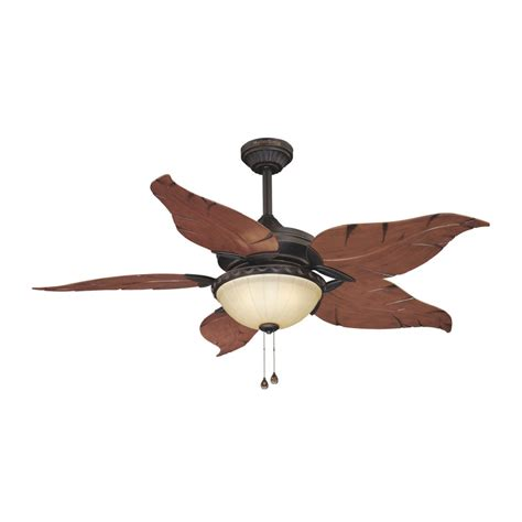 lowes outdoor ceiling fans with lights shop harbor breeze 52 in outdoor ceiling fan with light
