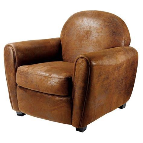 fauteuil club vintage microfibre marron achat vente fauteuil mati 232 re de la structure bois