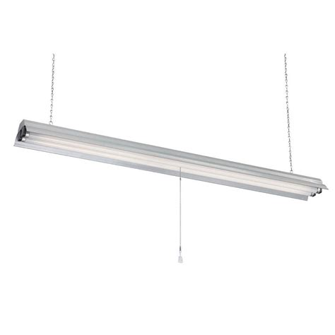 fluorescent shop lights electric 2 light 48 in gray textured