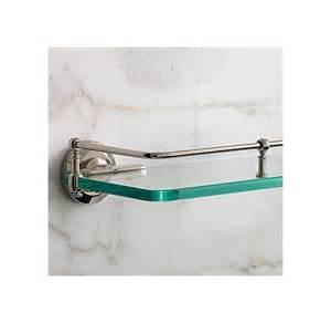 Restoration Hardware Chatham Bathroom Accessories by Lugarno Glass Shelf Above Toilet Master Bath Pinterest